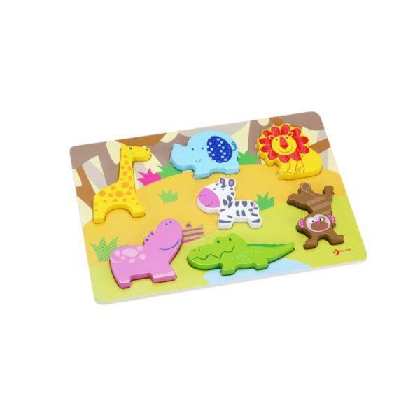 3D Пъзел - горски животни - Детски играчки - Пъзели - Дървени играчки