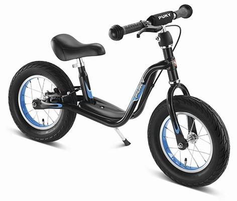 Балансиращо колело със спирачка и степенка PUKY LR XL - черно и синьо - Играчки за навън - Балансиращи колела