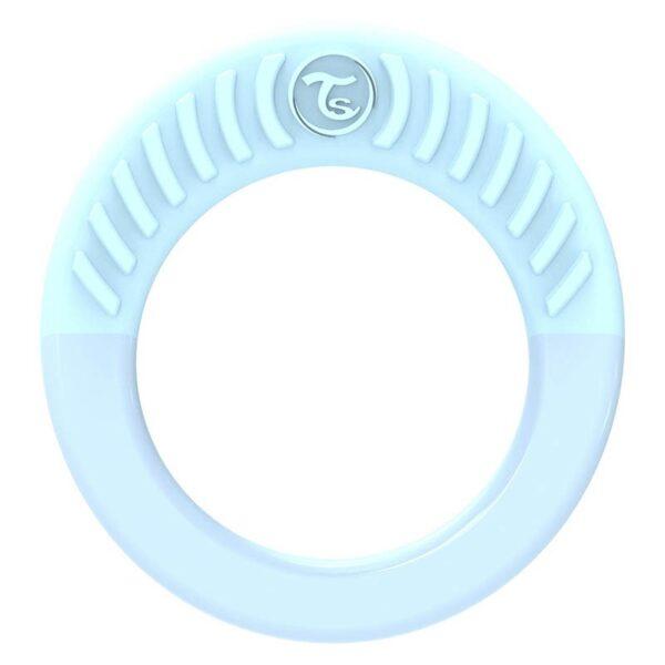 Бебешка чесалка Twistshake - кръгла синя - За бебето - Хранене - Залъгалки и чесалки