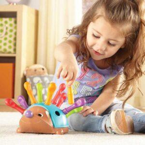 Бебешка играчка за фина моторика - Таралежа Спайк - Детски играчки - Пъзели