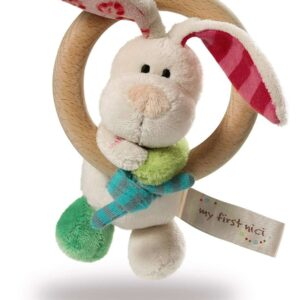 Бебешка плюшена играчка гризалка Зайче - Детски играчки - Плюшени играчки
