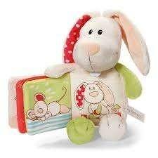 Бебешка плюшена книжка Заек - Детски играчки - Плюшени играчки