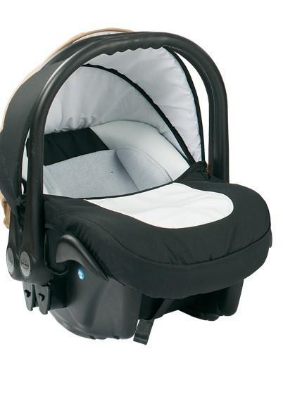 Бебешко кошче за кола 3-9 кг, Baby Merc Leo бяло и черно - Бебешки колички - Кошчета за кола