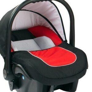 Бебешко кошче за кола 3-9 кг, Baby Merc Leo черно и червено - Бебешки колички - Кошчета за кола