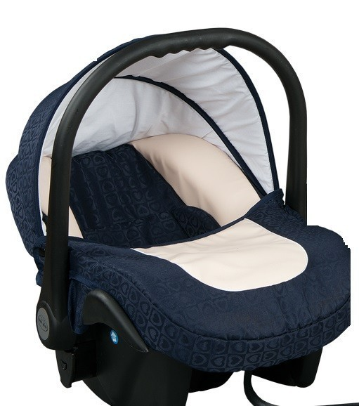 Бебешко кошче за кола 3-9 кг, Baby Merc Leo морско синьо и бежово - Бебешки колички - Кошчета за кола