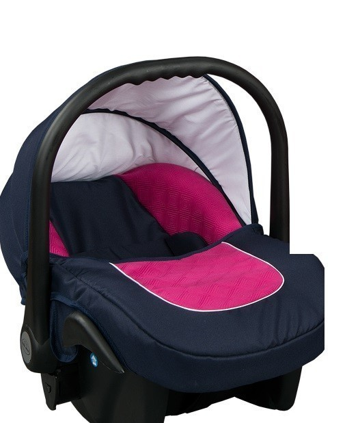 Бебешко кошче за кола 3-9 кг, Baby Merc Leo морско синьо и розово - Бебешки колички - Кошчета за кола