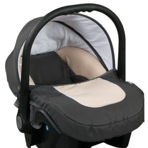 Бебешко кошче за кола 3-9 кг, Baby Merc Leo сиво и бежово - Бебешки колички - Кошчета за кола
