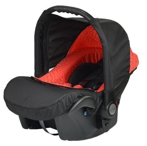 Бебешко кошче за кола Baby Merc Zipy - Черно и червено - Бебешки колички - Кошчета за кола