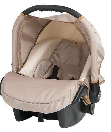 Бебешко кошче за кола Baby Merc Zipy - Кремаво - Бебешки колички - Кошчета за кола