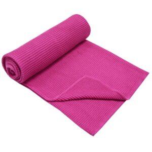 Бебешко одеяло 100% бамбук тъмно розово - За бебето - Аксесоари за детска стая - Завивки / Одеяла