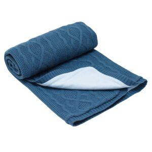 Бебешко одеяло плетено - ромбоиди графит - За бебето - Аксесоари за детска стая - Завивки / Одеяла