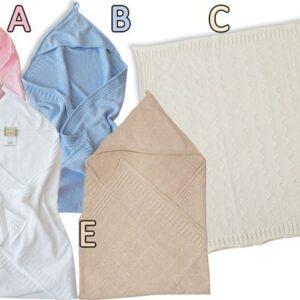 Бебешко одеяло с качулка бяло - За бебето - Аксесоари за детска стая - Завивки / Одеяла