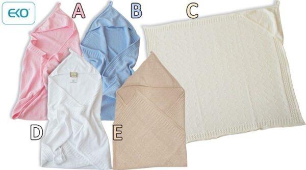 Бебешко одеяло с качулка екрю - За бебето - Аксесоари за детска стая - Завивки / Одеяла