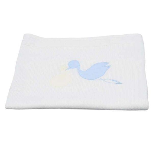 Бебешко одеяло - щъркелче - За бебето - Аксесоари за детска стая - Завивки / Одеяла