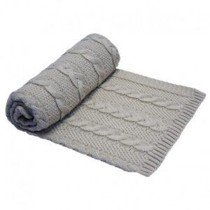 Бебешко одеяло, сиво - За бебето - Аксесоари за детска стая - Завивки / Одеяла