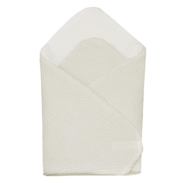 Бебешко плетено одеяло екрю - За бебето - Аксесоари за детска стая - Завивки / Одеяла