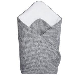 Бебешко плетено одеяло сиво - За бебето - Аксесоари за детска стая - Завивки / Одеяла