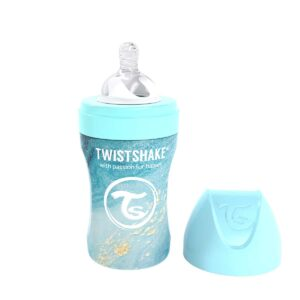Бебешко шише Twistshake 260 мл от неръждаема стомана - Мраморно синьо - За бебето - Хранене - Бебешки шишета и биберони