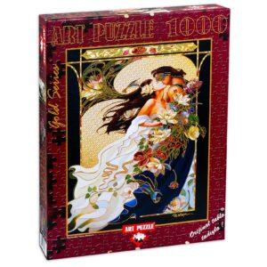 Блестящ пъзел Art Puzzle от 1000 части - Романтична двойка, Сандра Уoкийн - Пъзели