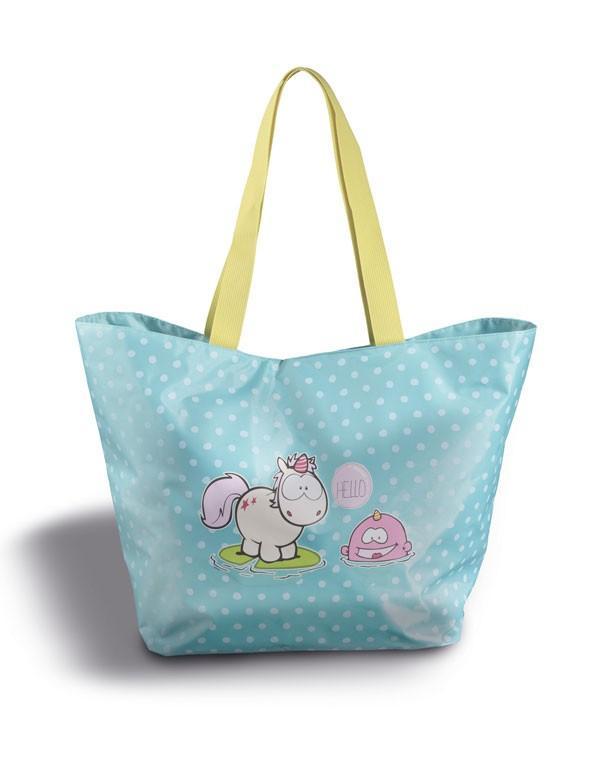Чанта за плаж с Еднорогът Theodor, синя - Детски играчки - Плюшени играчки