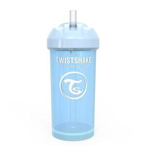 Чаша със сламка Twistshake - 360 ml 12+ месеца синя - За бебето - Хранене - Детски и бебешки чаши