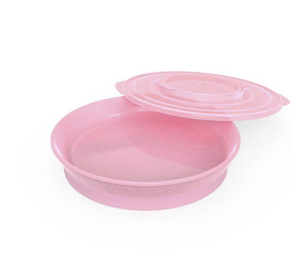 Чиния Twistshake 6+ месеца розова - За бебето - Хранене - Прибори за хранене на бебета