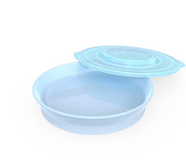 Чиния Twistshake 6+ месеца синя - За бебето - Хранене - Прибори за хранене на бебета