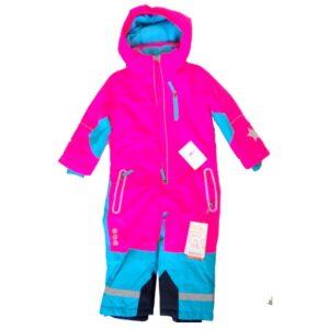 Детски зимен екип за деца 92-98см, Розов-тюркоаз - Детски дрехи и обувки - Зимни спортни екипи