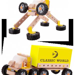 Дървен конструктор Камион - Робот - Детски играчки - Конструктори - Дървени играчки