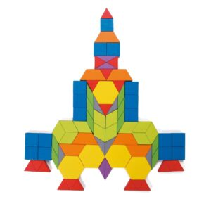 Дървен конструктор от 250 части - Детски играчки - Образователни играчки - Дървени играчки