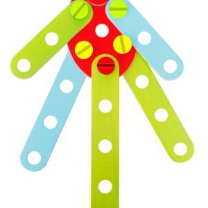 Дървен конструктор с гайки и болтчета - Детски играчки - Образователни играчки - Дървени играчки