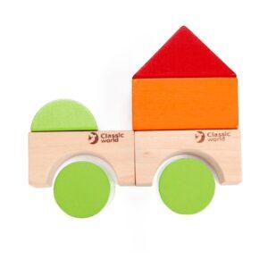 Дървен конструктор със 100 блокчета - Детски играчки - Образователни играчки - Дървени играчки