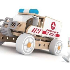 Дървен конструктор за деца - Линейка - Детски играчки - Конструктори - Дървени играчки