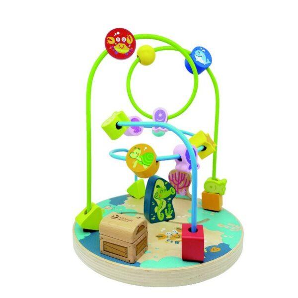 Дървен костер Морско дъно - Детски играчки - Образователни играчки - Дървени играчки