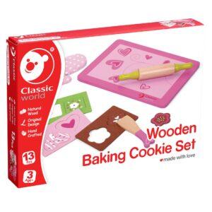 Дървен кухненски комплект за Печене на бисквити - Детски играчки - Образователни играчки - Дървени играчки