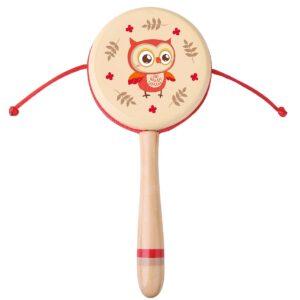Дървен маракас - Бухалче - Детски играчки - Музикални инструменти - Дървени играчки