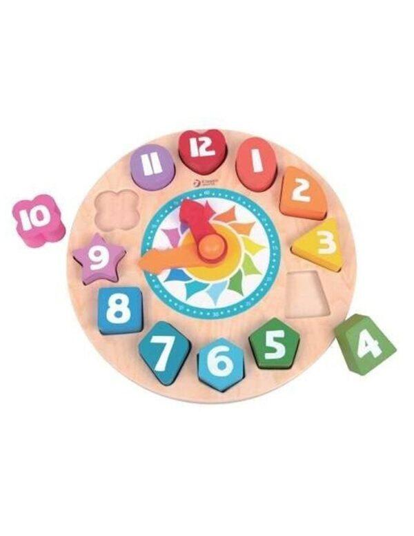 Дървен образователен часовник - Детски играчки - Образователни играчки - Дървени играчки