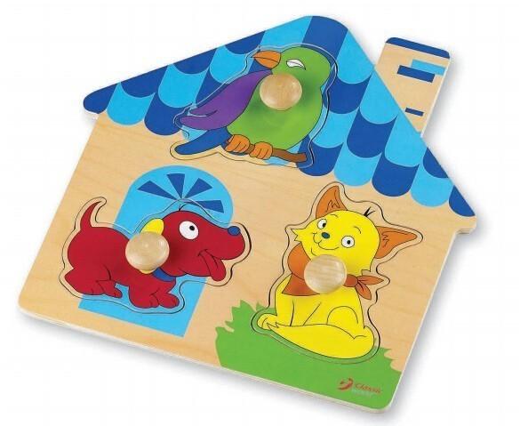 Дървен пъзел - къщичка - Детски играчки - Пъзели - Дървени играчки - Пъзели