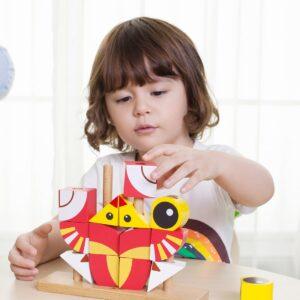 Дървен пъзел - кубчета Лъвче - Детски играчки - Конструктори - Пъзели - Дървени играчки - Пъзели