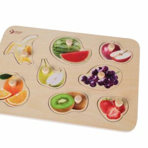 Дървен пъзел - плодове - Детски играчки - Пъзели - Дървени играчки - Пъзели