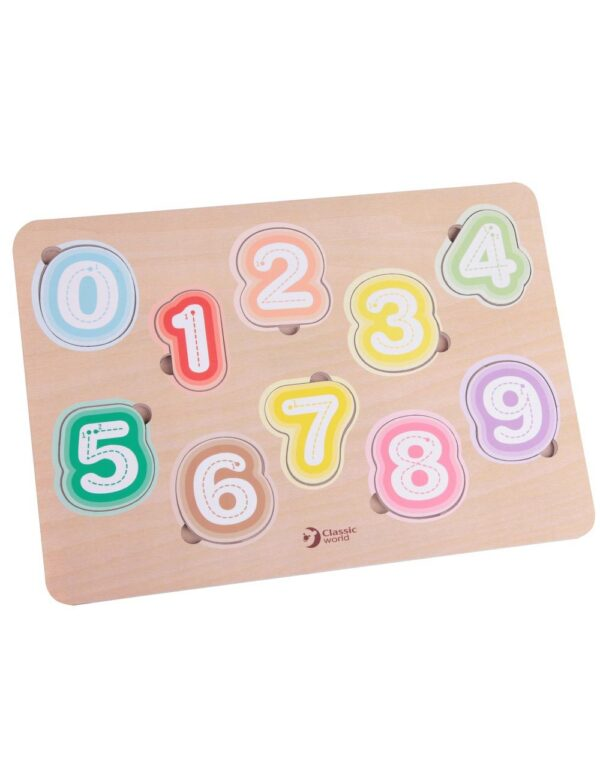 Дървен пъзел с числа - Детски играчки - Пъзели - Пъзели