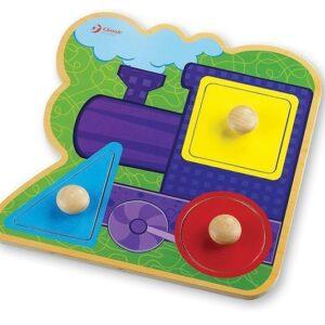 Дървен пъзел - влакче - Детски играчки - Пъзели - Дървени играчки - Пъзели
