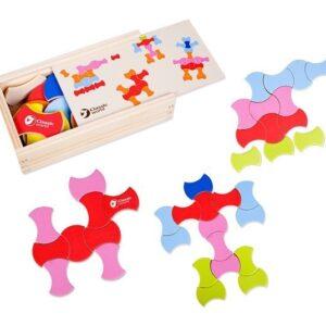 Дървен пъзел за деца - Детски играчки - Образователни играчки - Пъзели - Дървени играчки - Пъзели