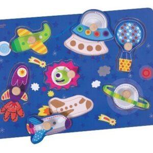 Дървен пъзел за деца - космос - Детски играчки - Пъзели - Дървени играчки - Пъзели