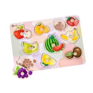 Дървен пъзел за деца с плодове - Детски играчки - Пъзели - Дървени играчки - Пъзели