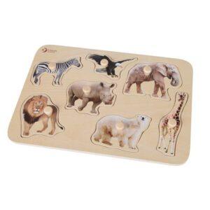 Дървен пъзел за деца - Сафари - Детски играчки - Пъзели - Дървени играчки - Пъзели