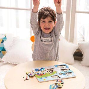 Дървен пъзел за деца - Трафик - Детски играчки - Пъзели - Дървени играчки - Пъзели
