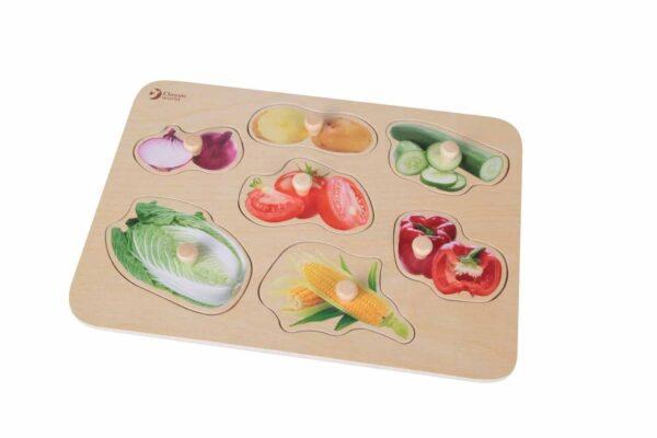 Дървен пъзел - зеленчуци - Детски играчки - Пъзели - Дървени играчки - Пъзели