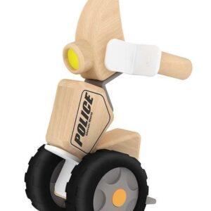 Дървен полицейски мотор - Детски играчки - Конструктори - Дървени играчки