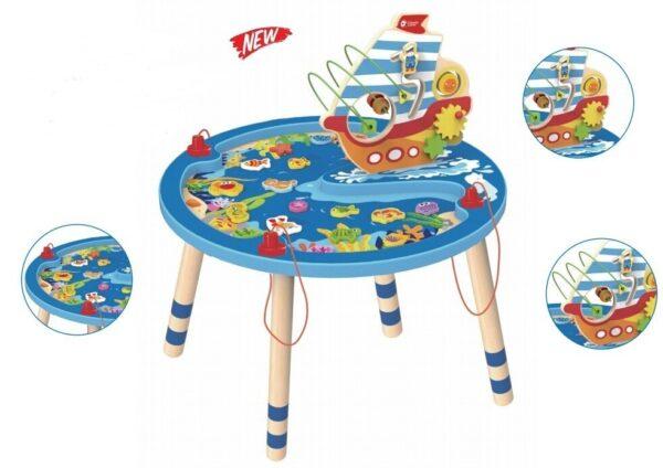 Дървена активна маса - Детски играчки - Къщи за игра, маси и столове - Дървени играчки